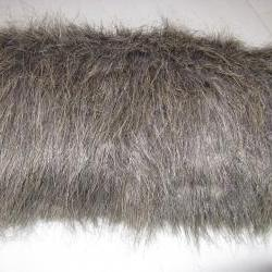 Muff in long gray tipped faux fur